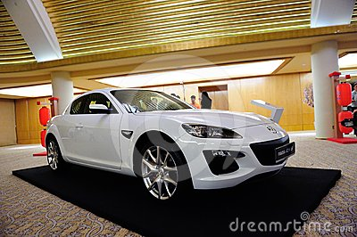 Mazda RX-8 coupe on display Editorial Photography