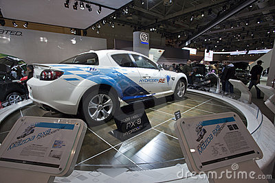 Mazda RX8 Hydrogen RE at 2010 Autoshow Editorial Image