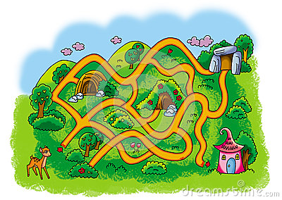 Mountain road maze