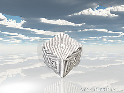 Maze cube on white