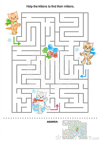 Free Maze For Kids Stock Photos - 24404993