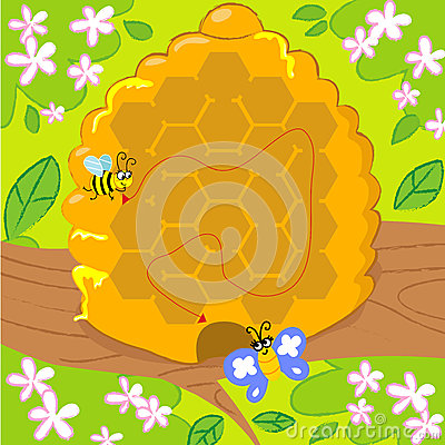 Maze game with bee and butterfly