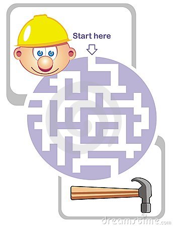 Maze game: builder and hammer