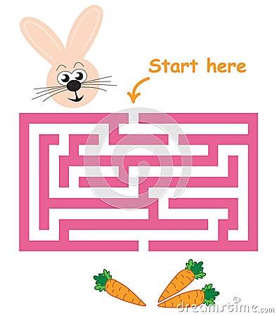 Maze game: bunny & carrots