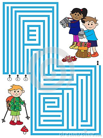 Free Maze Game For Children Stock Image - 115804091