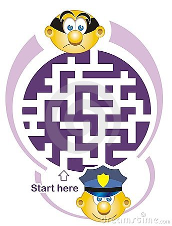 Maze game: policeman and thief