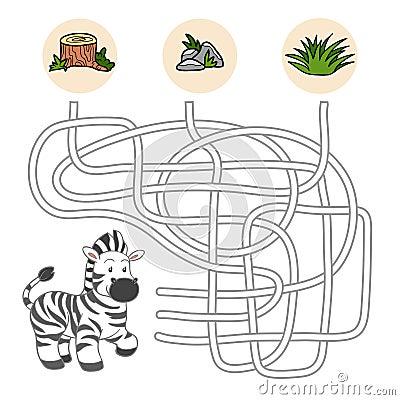 Maze Game (zebra) Stock Vector - Image: 50603447