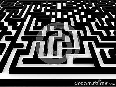 Maze � Labyrinth on white background. 3D