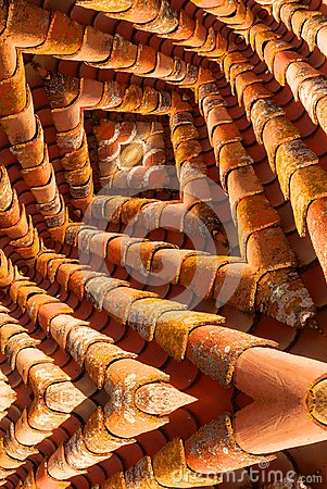 Free Maze Like Image Of Roof Tiles Stock Photos - 103381393