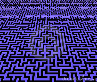 Maze pattern inifinite view