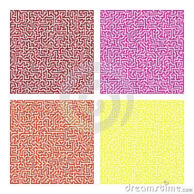 Maze pattern set