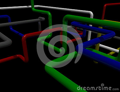 Maze of pipes