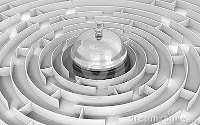 Maze to Service bell