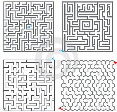 Free Mazes Royalty Free Stock Images - 9079039
