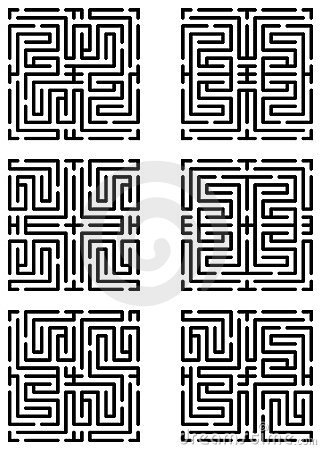 Mazes made with help of maze pattern