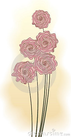 Mazzo decorativo dei fiori dentellare