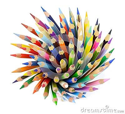 Mazzo di matite colorate fotografia stock immagine 39580702 for Costruire un mazzo di portico