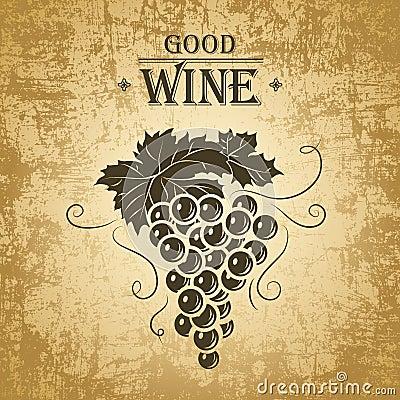 Mazzo di uva per le etichette di vino immagini stock for Disegni del mazzo del cortile anteriore