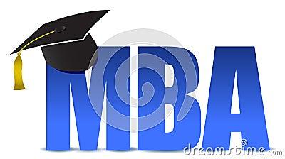 MBA graduation tassel hat