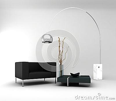 Möbel. Minimaler Innenraum
