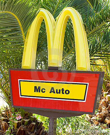 Mc Auto Sign Editorial Image