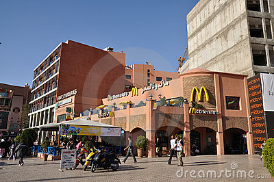 Mc Donalds in Marrakesh Editorial Image