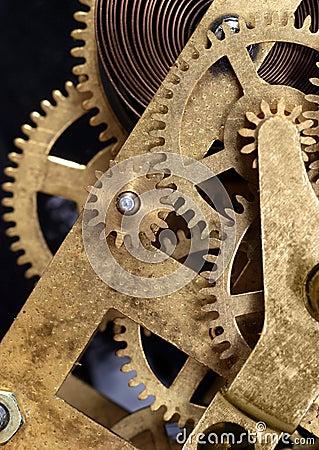 Mécanisme de rouage d horloge