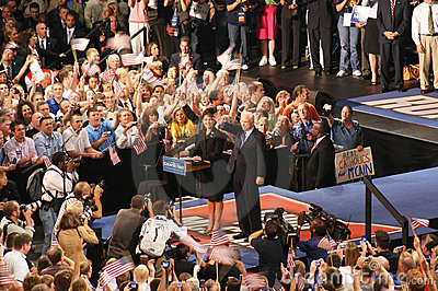 McCain Introduces Palin as VP in Dayton Ohio Editorial Stock Photo