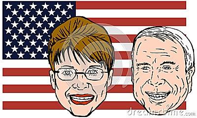 Mccain and Sarah Palin Editorial Photography