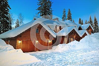 Mccall Winter Log Cabin