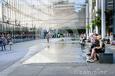 McCaw Hall Walkway in Seattle Editorial Photography