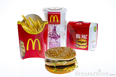 McDonald s Big Mac Menu Editorial Stock Image