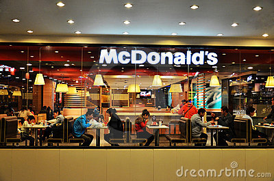 Mcdonald s fastfood restaurant Editorial Stock Photo