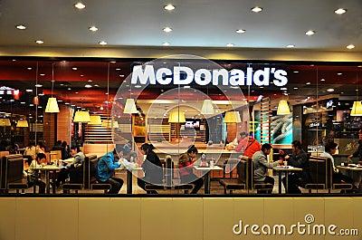 Mcdonald s fastfood restaurant Editorial Stock Photo