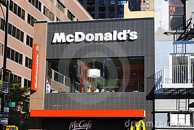 McDonald s New York Editorial Stock Image