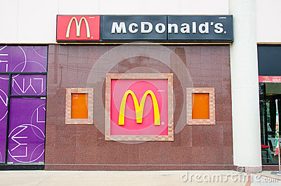 Mcdonal s LOGO Editorial Stock Photo