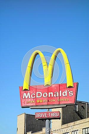 McDonalds Drive-Thru Editorial Stock Image