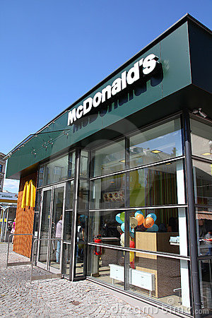 McDonalds restaurant Editorial Stock Image