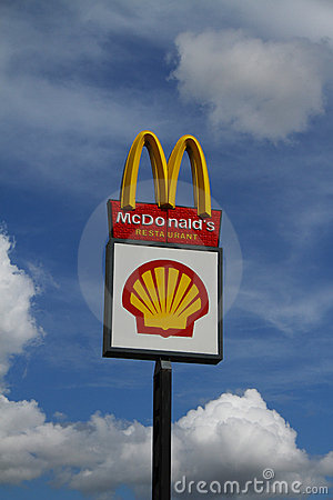 Mcdonalds And Shell Sign Editorial Image Image 20763870
