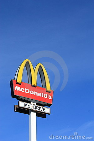 McDonalds sign Editorial Image