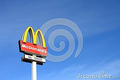 McDonalds sign Editorial Stock Image