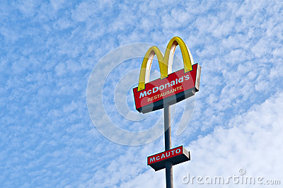 McDonalds sign Editorial Photography