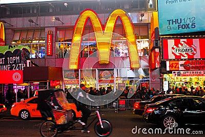 McDonalds Times Square, Manhattan, NYC. Editorial Photo