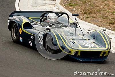 McLaren Can-Am racing car at speed Editorial Photography