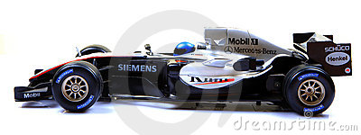Mclaren f1 racing car side view Editorial Stock Image