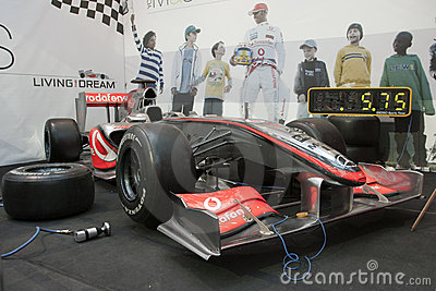 McLaren Mercedes F1 Pit Stop Editorial Stock Photo
