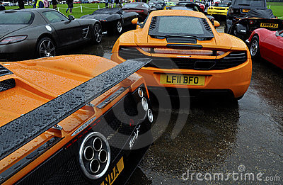 McLaren MP4-12C and Pagani Zonda F Editorial Stock Photo