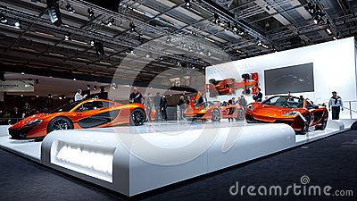 McLaren mp4-12c Supercars at Paris Motor Show 2012 Editorial Photography