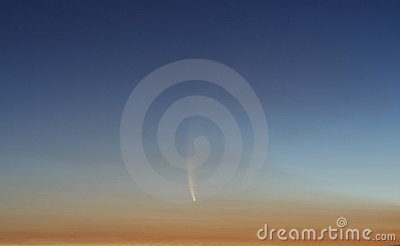McNaught Comet at Sunset Editorial Image
