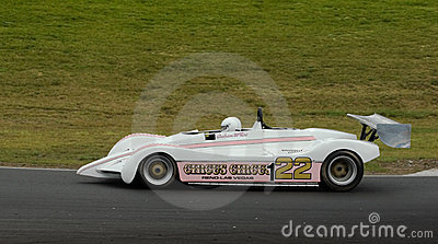 McRae Can-Am racing car at speed Editorial Stock Photo